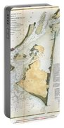 1853 Us Coast Survey Map Of Key Biscayne Bay Key West And The Cedar Keys Florida Portable Battery Charger