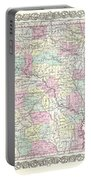 1855 Colton Map Of Arkansas Portable Battery Charger