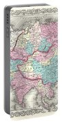 1855 Colton Map Of Asia Portable Battery Charger