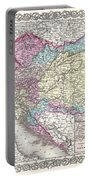 1855 Colton Map Of Austria Hungary And The Czech Republic Portable Battery Charger