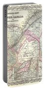 1855 Colton Map Of Canada East Or Quebec Portable Battery Charger