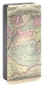 1855 Colton Map Of Columbia Venezuela And Ecuador Portable Battery Charger