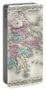 1855 Colton Map Of Greece  Portable Battery Charger