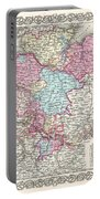 1855 Colton Map Of Hanover And Holstein Germany Portable Battery Charger