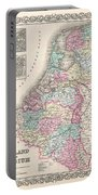 1855 Colton Map Of Holland And Belgium Portable Battery Charger