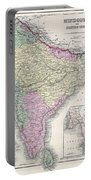 1855 Colton Map Of India Or Hindostan Portable Battery Charger