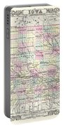 1855 Colton Map Of Iowa Portable Battery Charger