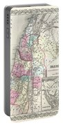 1855 Colton Map Of Israel Palestine Or The Holy Land Portable Battery Charger