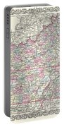 1855 Colton Map Of Kentucky And Tennessee Portable Battery Charger