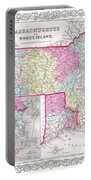 1855 Colton Map Of Massachusetts And Rhode Island Portable Battery Charger