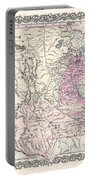 1855 Colton Map Of Minnesota Portable Battery Charger
