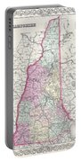 1855 Colton Map Of New Hampshire Portable Battery Charger
