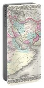 1855 Colton Map Of Persia Afghanistan And Arabia Portable Battery Charger