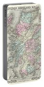 1855 Colton Map Of Scotland Portable Battery Charger