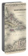 1855 Colton Map Of The West Indies Portable Battery Charger