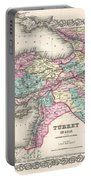 1855 Colton Map Of Turkey Iraq And Syria Portable Battery Charger
