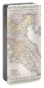 1856 Desilver Map Of Northern Italy Portable Battery Charger