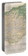 1856 Japanese Edo Period Woodblock Map Of Musashi Kuni Tokyo Or Edo Province Portable Battery Charger