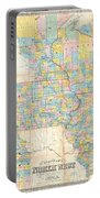 1857 Chapman Pocket Map Of The North West Illinois Wisconsin Iowa  Portable Battery Charger