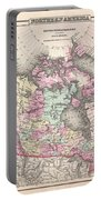 1857 Colton Map Of Canada And Alaska Portable Battery Charger