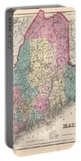 1857 Colton Map Of Maine Portable Battery Charger