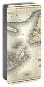 1857 Colton Map Of New Brunswick And Newfoundland Canada Portable Battery Charger