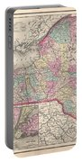 1857 Colton Map Of New York Portable Battery Charger