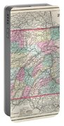 1857 Colton Map Of Pennsylvania Portable Battery Charger