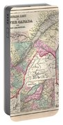 1857 Colton Map Of Quebec And New Brunswick Canada Portable Battery Charger