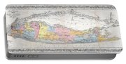 1857 Colton Travellers Map Of Long Island New York Portable Battery Charger