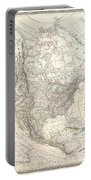 1857 Dufour Map Of North America Portable Battery Charger