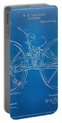 1869 Velocipede Bicycle Patent Blueprint Portable Battery Charger