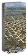 1871 Birds Eye Map Of Chattanooga Portable Battery Charger