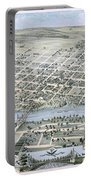 1873 Birds Eye Map Of Waco Portable Battery Charger