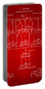 1873 Brewing Beer And Ale Patent Artwork - Red Portable Battery Charger
