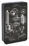 1875 Colt Peacemaker Revolver Patent Artwork - Gray Portable Battery Charger