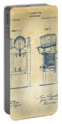 1876 Beer Keg Cooler Patent Artwork - Vintage Portable Battery Charger