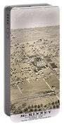 1876 Birds Eye Map Of Mckinney Texas Portable Battery Charger