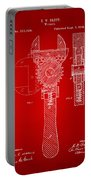 1878 Adjustable Wrench Patent Artwork - Red Portable Battery Charger
