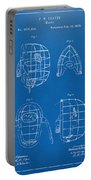 1878 Baseball Catchers Mask Patent - Blueprint Portable Battery Charger by Nikki Marie Smith