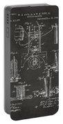 1890 Bottling Machine Patent Artwork Gray Portable Battery Charger