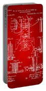1890 Bottling Machine Patent Artwork Red Portable Battery Charger