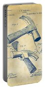 1890 Hammer Patent Artwork - Vintage Portable Battery Charger