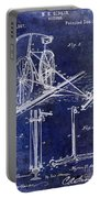 1891 Bicycle Patent Drawing Blue Portable Battery Charger