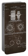 1891 Tesla Electro Magnetic Motor Patent Espresso Portable Battery Charger
