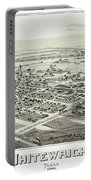1891 Vintage Map Of Whitewright Texas Portable Battery Charger