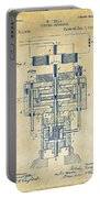 1894 Tesla Electric Generator Patent Vintage Portable Battery Charger by Nikki Marie Smith