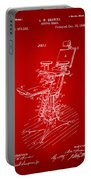 1896 Dental Chair Patent Red Portable Battery Charger