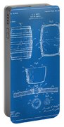 1898 Beer Keg Patent Artwork - Blueprint Portable Battery Charger