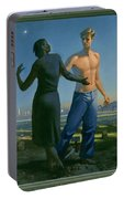 19. Jesus Appears To Mary / From The Passion Of Christ - A Gay Vision Portable Battery Charger